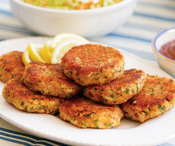 A recipe for crab cakes