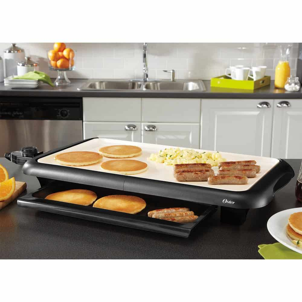 oster electric griddle with warming tray