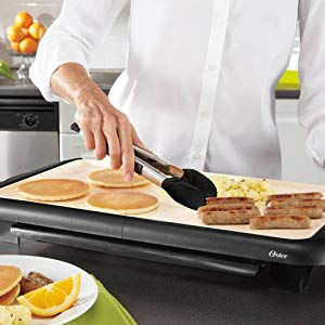 oster electric griddle with warming tray built in