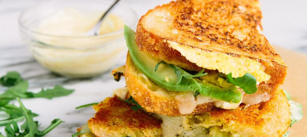 Avocado And Grilled Cheese Sandwich
