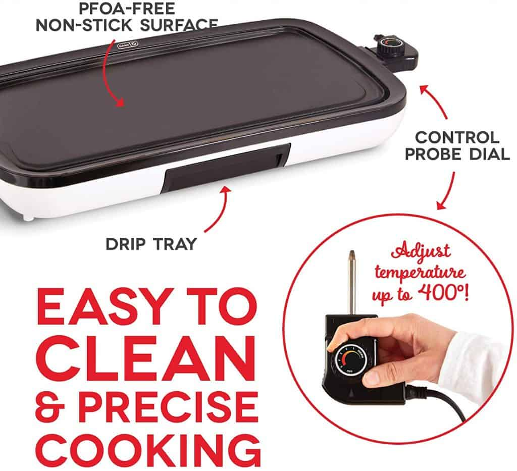 DASH Electric Griddle Features