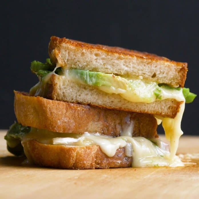 How To Make A Grilled Cheese And Avocado Sandwich.