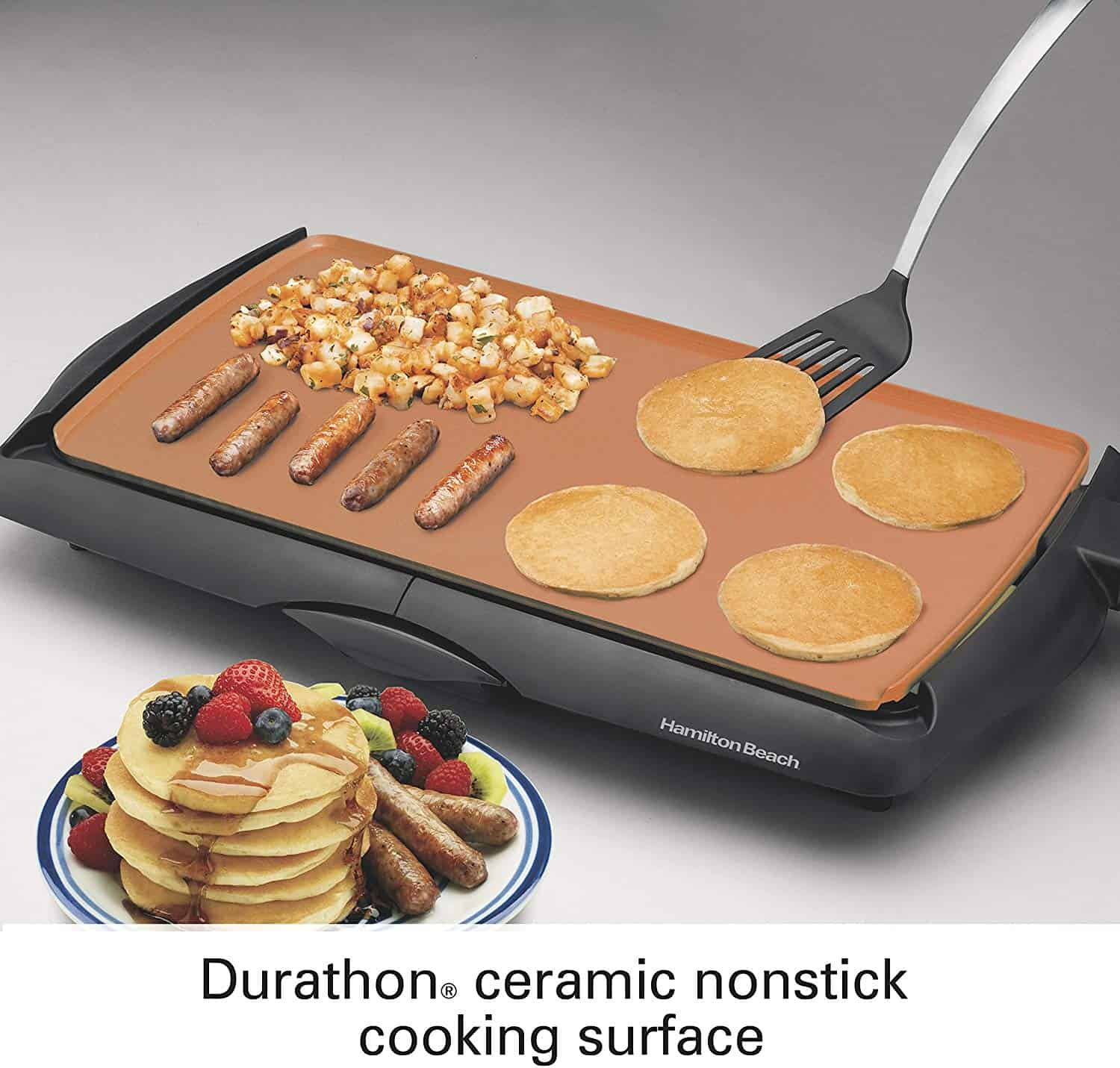 A Review Of The Hamilton Beach Durathon Electric Griddle Ceramic Cooking Surface