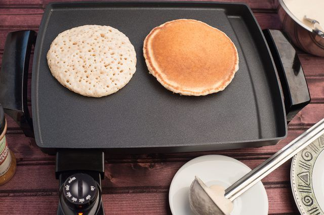 Using An Electric Griddle To Make Pancakes